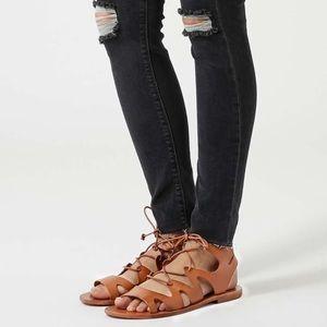 TopShop Fig Gladiator Lace up Sandals